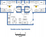 Vanderventer Apartments room layout