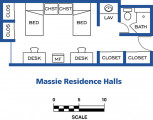 Massie Halls floor plans