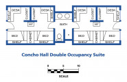 Concho Hall floor plans