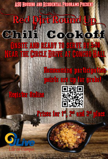 Red Dirt Round Up - Chili Cook-Off Poster