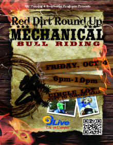 Red Dirt Round Up - Mechanical Bull Poster