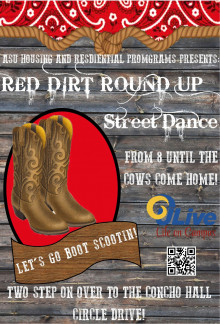 Red Dirt Round Up - Street Dance Poster