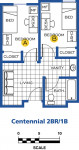 Centennial Village two bedroom room layout