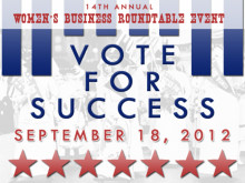 Vote for Success! Women's Business Roundtable Event 2012