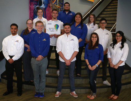 Students from ASU's Small Business Competition Class acted as advisors to the local competing com...