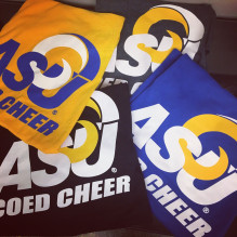 ASU Coed Cheer flags