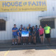 Students volunteering at House of Faith