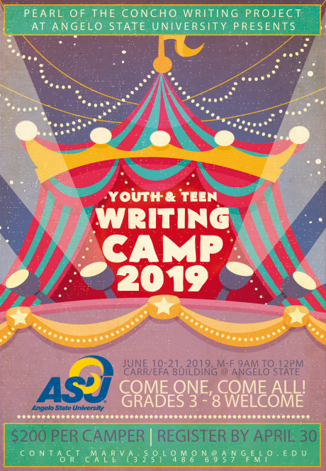 Flyer for 2019 PCWP Writing Camp