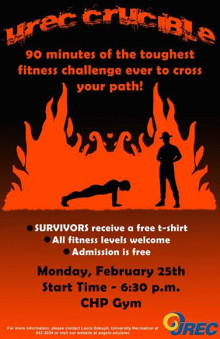Do you have what it takes to survive the 3rd annual UREC Crucible fitness event?