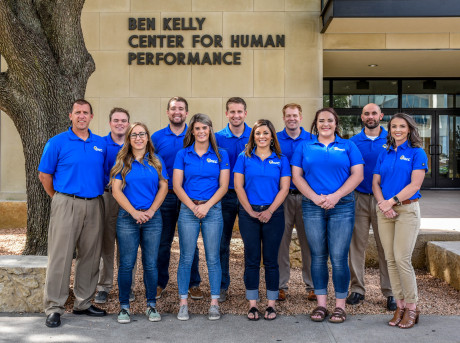 UREC staff pictured outside the Ben Kelly Center for Human Performance building.