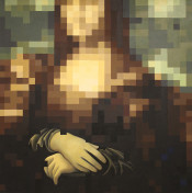 "<strong>""Pixelated Mona"" by Pamela Upton</strong>"