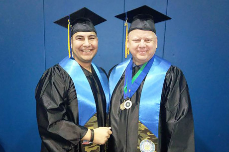 Veteran Angelo State graduates (l-r): JR Galvan and Phillip Nichelson