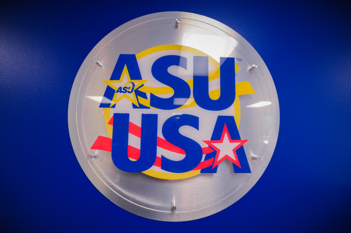ASU USA graphic in the VETS Center at Angelo State University.