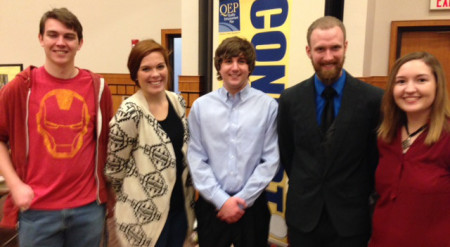 (Left to Right) Caylor Clark, Emily Baethge, Addison Wallace, Justin Hall, Kimberlyn Schwartz