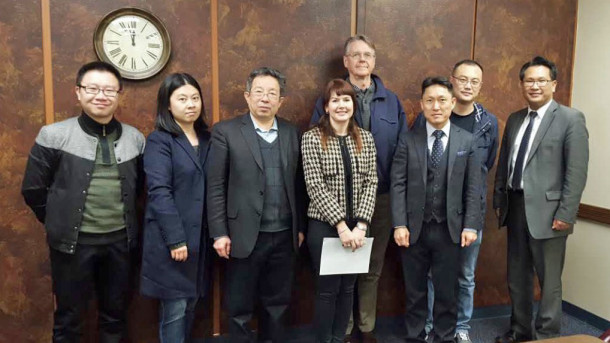 Chinese Delegation from Zhuhai College of Jilin University, Guangdong, China, with Dean Gascoigne, Dr. Musgrove, and Dr. Lee