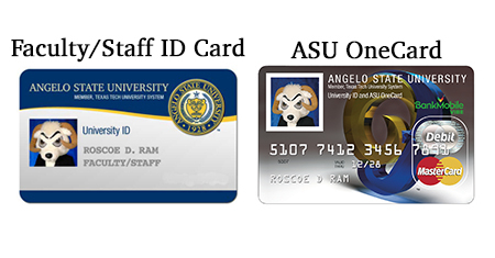 Images of Faculty/Staff ID and the ASU OneCard