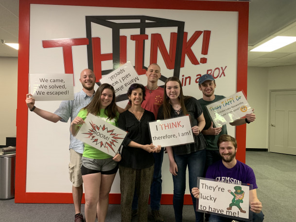 Philosophy students attend THINK BOX May 2019