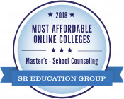 2018 Most Affordable Online Colleges Master's-School Counseling SR Education Group Badge