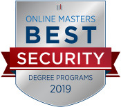 Online Masters Best Security Degree Programs 2019 Badge.