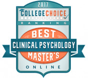 CollegeChoice 2017 Clinical Psych Ranking Badge