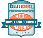 CollegeChoice 2017 Homeland Security Ranking Badge