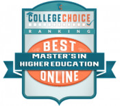 College Choice Best Master's in Higher Education Online Badge