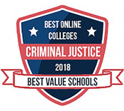 BestValueSchools.org Best Online Colleges Criminal Justice Badge