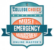 CollegeChoice.net Most Affordable Emergency Management Online Master's Badge