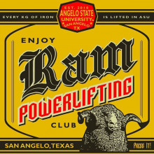 Ram Powerlifting Club Logo