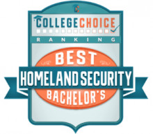 College Choice Best Homeland Security Bachelor's Badge