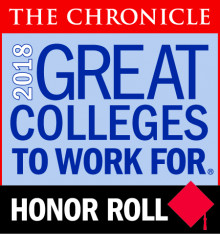 2018 Great Colleges to Work For Honor Badge