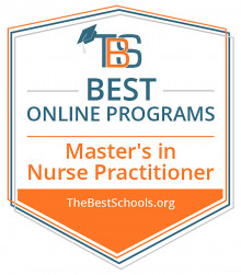 TheBestSchools.org Best Online Programs, Master's in Nurse Practitioner Badge