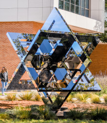 "Angelo State's new ""Cube-i"" public art sculpture"
