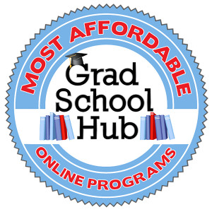 Grad School Hub Most Affordable Online Programs Graphic