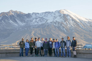 Students at Mount Saint Helens