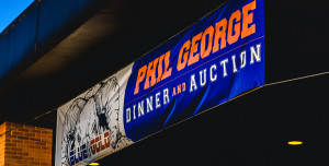 Angelo State Phil George Blue & Gold Dinner and Auction banner