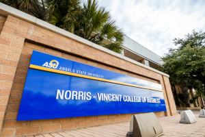 Angelo State Norris-Vincent College of Business Sign
