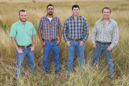 (L to R) Kye Burris, Will Fuentes, Cody Riddle and Chris Miller