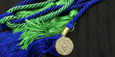 Alpha Chi honor cord that members wear at graduation