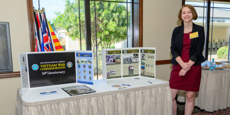 Keely Shaw working a Vietnam War Commemoration event at the ASU LeGrand Center
