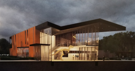 Artist rendering of ASU Museum by Kinney Franke Architects