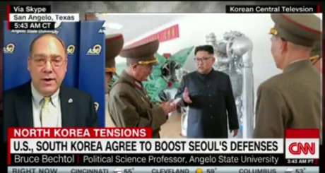 If ASU shows up on CNN, you can bet it's Dr. Bechtol talking about North Korea.
