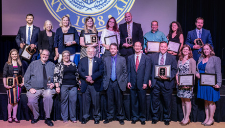 2019 Faculty Excellence Awards winners, along with several semifinalists and nominees