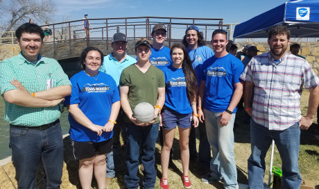 <p><strong>(Back row, L to R) Ryan Albert, Anton Reed and John Jefferies</strong><br/><strong>(Front, L to R) Dr. Daniel Castaneda, Emma Reyes, Deyton Riddle, Michelle Davis, Caleb Miller and Josh Pirkle</strong></p>