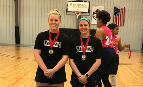 (L to R) Shannon Thompson and Jacie Klose with their All-America medals