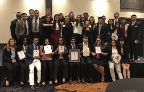 ASU's Delta Sigma Pi chapter won multiple awards at the LEAD School conference in Dallas.