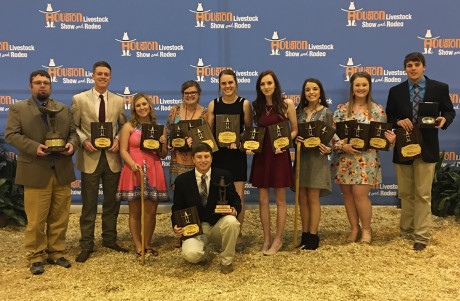 <strong>(L to R) Dr. Will Dickison, Ty Mitchell, Destiny Cowley, Morgan McCulloch, Bailey Hooten, Mikhaila Barnett, Maggie Louton, Lexi Carroll, Tyler Davidson</strong><br/><strong>(Front) Tate Schwartz</strong>
