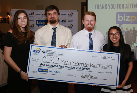 CLR Environmental (L to R): Bailey Dominguez, Brian Watson, Colby Roach, Jamie Couch