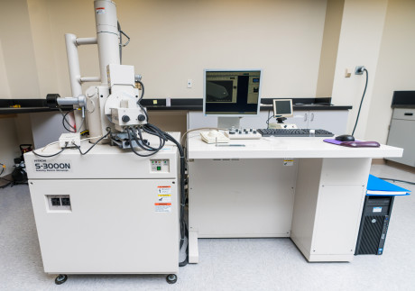 ASU's Hitachi S-3000N scanning electron microscope is housed in the research wing of the Vincent Building.