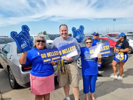 Onofre-Madrid (left) helped send the Rambelles softball team off to the NCAA Division II Women's College World Series in style.